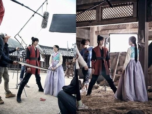 Chênh lệch khoảng 20cm nên khi thực hiện những cảnh quay cùng Lee Yoo Bi, Lee Seung Gi đều dang rộng chân để phù hợp với cô.