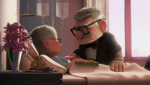 Bộ phim hoạt hình Ups đã lấy đi không ít nước mắt khán giả bằng câu chuyện tình yêu nhẹ nhàng nhưng vô cùng cảm động của cặp đôi Ellie và Carl.