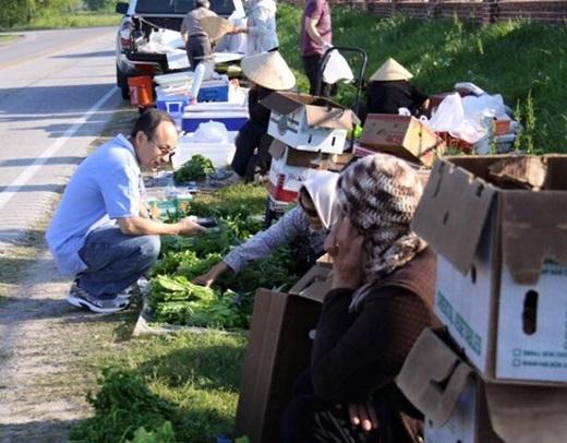 Thật ra, ở Mỹ,việchọp chợ ven đường như thế này là phạm luật. Tuy nhiên, sau khi tiếp nhận đề nghị của cộng đồng người Việt ở Houston, chính quyền Houston đã đồng ý để nhằmduy trì nét văn hóa đặc trưng này.(Nguồn: Internet)