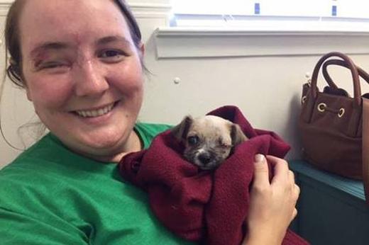 Maria vô cùng hạnh phúc khi đã sở hữu chú chó đáng yêu này