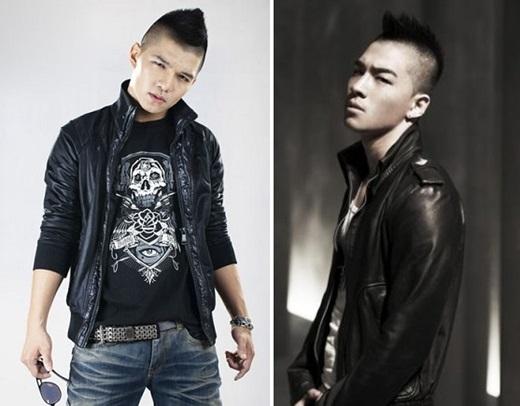 Cường Seven từng nhiều lần bị cho là bắt chước phong cách của Tae Yang (Big Bang). (Ảnh: Internet)