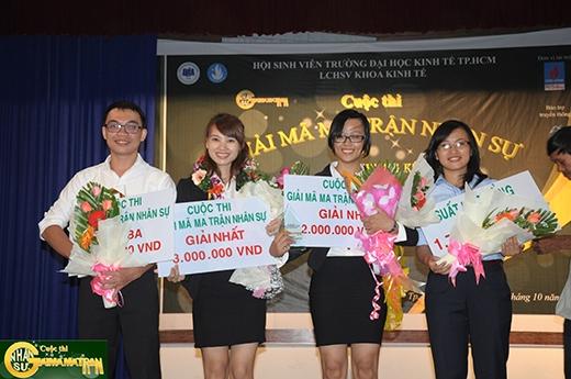 Trao những giải thưởng tiền mặt, khóa học nhân sự, kĩnăng cho các thí sinh xuất sắc.