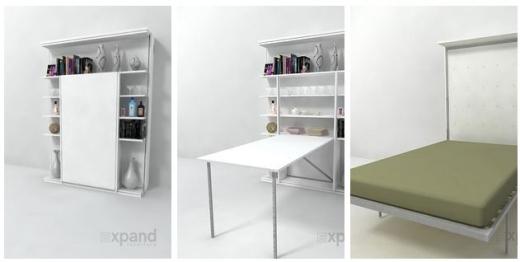 Dụng cụ này rất tiết kiệm không gian, đặc biệt thích hợp cho những ngôi nhà nhỏ. Nó có thể là kệ sách, bàn làm việc/học tập và cả giường ngủ.(Ảnh Internet)