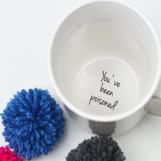 Và cuối cùng là một thông điệp ẩn giấu bên trong chiếc cốc. (Ảnh Internet)