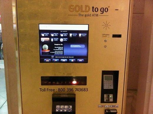 Không nhiều nơi trên thế giới có máy ATM rút... vàng. (Ảnh: Internet)