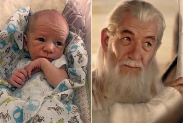 Vậy ra nếu phù thủy Gandalf trong bộ phim Chúa tể những chiếc nhẫn có con trai thì bé sẽ trông như thế này.