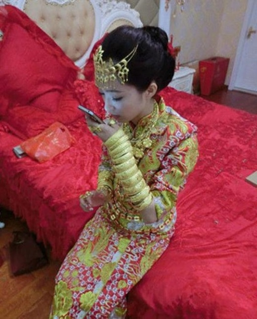 """Đám cưới """"dát vàng"""" như thế nàykhông còn là chuyện lạ ở Trung Quốc.(Nguồn: Internet)"""