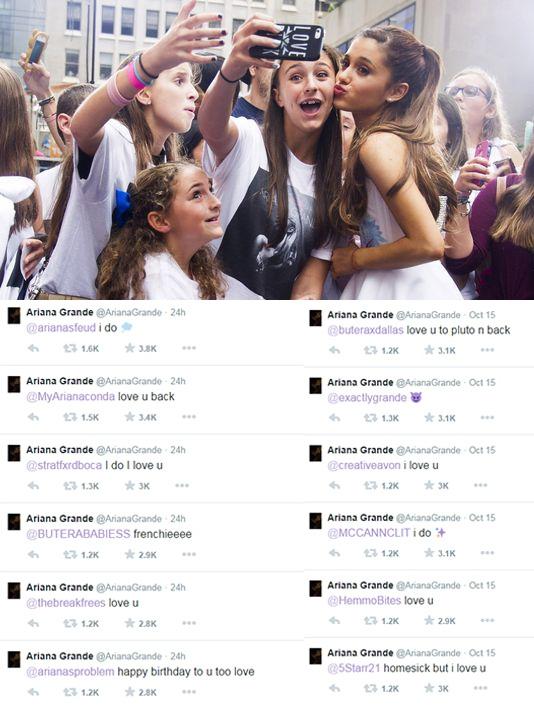 Những người hâm mộ của Ari chắc chắn biết rằng cô nàng yêu mến họ đến dường nào, bởi vì nữ ca sĩ đã trực tiếp trò chuyện với fan nhiều lần.