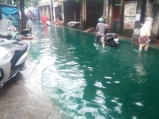 Được biết, khu vực xuất hiện trong ảnh là ngõ 87 phố Tam Trinh, quận Hoàng Mai, Hà Nội. (Ảnh: FB)