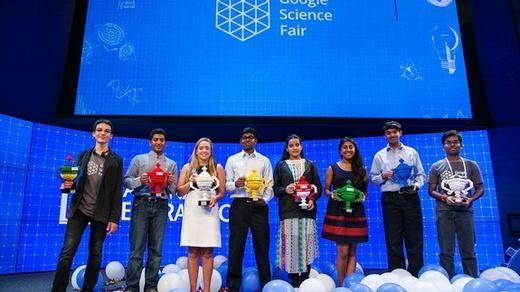Olivia và những thí sinh nhận giải thưởng của Google. (Ảnh: Internet)