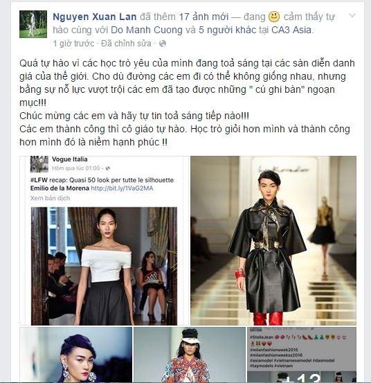 Trên trang cá nhân, Thùy Trang không giấu nổisự vui mừng. Bạn bè và người hâm mộ đã gửi nhiều lời chúc đến cô. Sau hơn 2 năm rèn luyện ngoại ngữ, Thùy Trang đã chính thức bước ra sàn diễn thế giới để khẳng định năng lực của bản thân. Trên những sàn diễn trong nước, chân dài 1m77 được đánh giá là một trong những người mẫu trình diễn catwalk đẹp nhất. Cô cũng là lựa chọn hàng đầu cho những bộ ảnh thời trang cao cấp của các tạp chí thời trang danh giá.