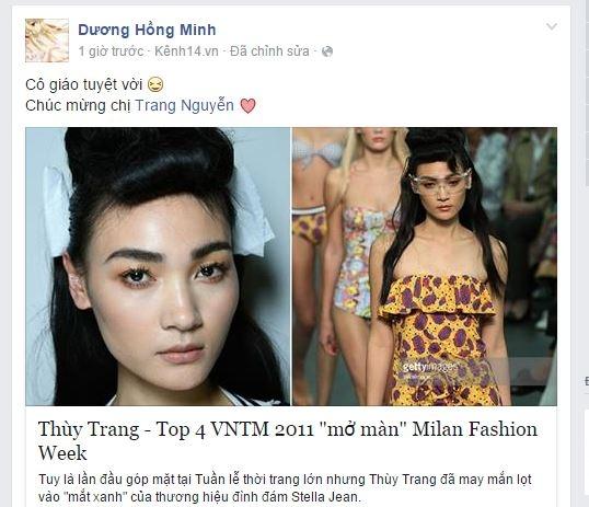Miranda Kerr xem Thùy Trang Next Top trình diễn catwalk