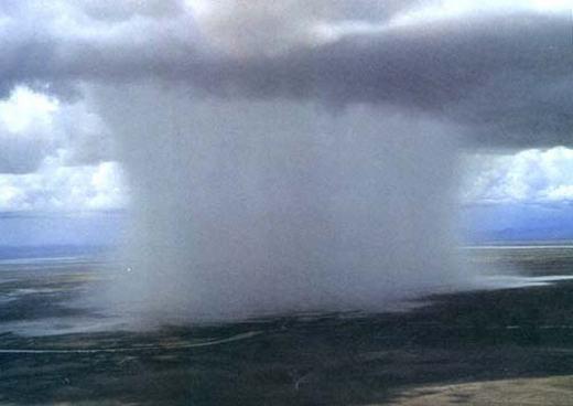 """Hiện tượng """"bom mưa"""" cực hiếm. (Ảnh: Internet)"""