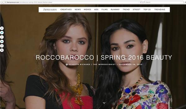 Hình ảnh của cô cũng được xuất hiện trên một trang web danh tiếng.