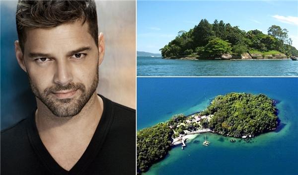 Ricky Martin đã bỏ ra 8 triệu USD (tương đương 160 tỉ đồng) để mua hòn đảo Angra dos Reis ngoài khơi của Brazil.