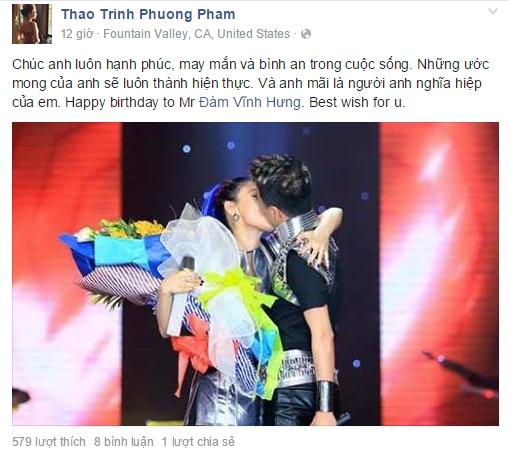 Thanh Thảo gửi lời chúc đến người anh nghĩa hiệp cùng bức ảnh hôn nhau nồng nàn giữa hai anh em. - Tin sao Viet - Tin tuc sao Viet - Scandal sao Viet - Tin tuc cua Sao - Tin cua Sao