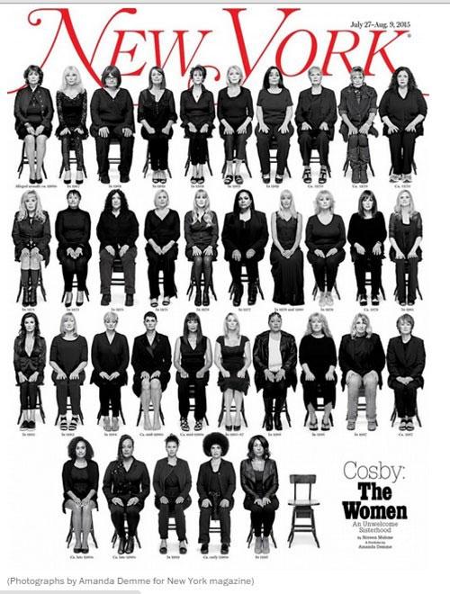 Những nạn nhân của Cosby xuất hiện trên tạp chí New York.