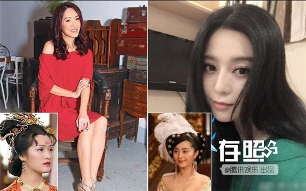 Hướng Hải Lam (trái) đi làm nhân viên trong khi đó Phạm Băng Băng vươn tầm nữ hoàng showbiz.