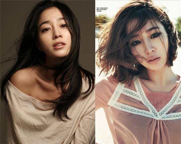 Nhìn vào hình ảnh so sánh trên cũng đủ chứng tỏ quyết định cắt phăng mái tóc dài của Lee Min Jung hoàn toàn đúng đắn.