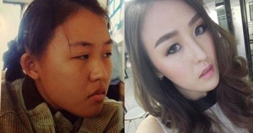 Hình ảnh trước và sau khi thay đổi nhan sắc của bà mẹ đơn thân.