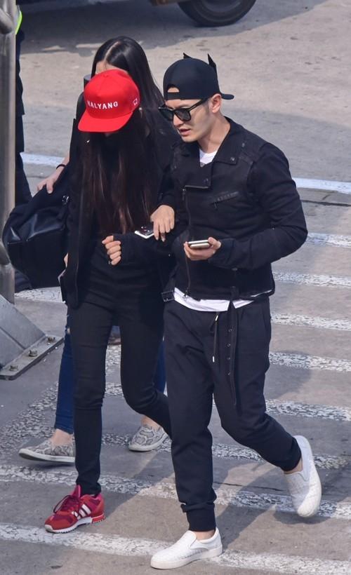 Huỳnh Hiểu Minh và AngelaBaby đã có mặt tại Thượng Hải vào chiều ngày 6/10.