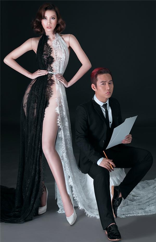 Cách biến hóa kiểu dáng trang phục thượng thừa với phom dáng mạnh mẽ, cá tính là điều Chung Thanh Phong chinh phục giới mộ điệu.