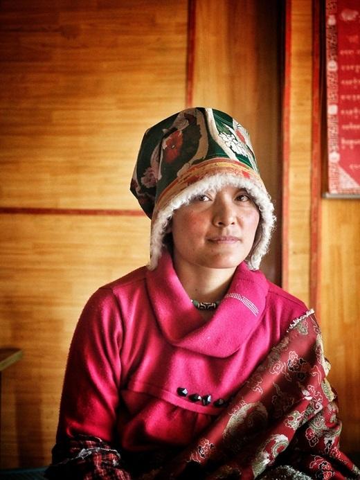 Nét dung dị, hiền hòa của một phụ nữ Tây Tạng.(Ảnh Internet)