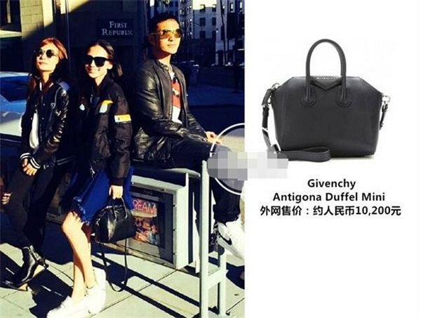 Tại một sự kiện trao giải thưởng điện ảnh, AngelaBaby đến cùng chồng và diện trang phục trong BST Thu Đông 2014 của Givenchy trị giá 71.000 NDT (245 triệu đồng) cùng túi da xách tay Antigona Duffel Mini cũng của Givenchy có giá 1.650 USD.
