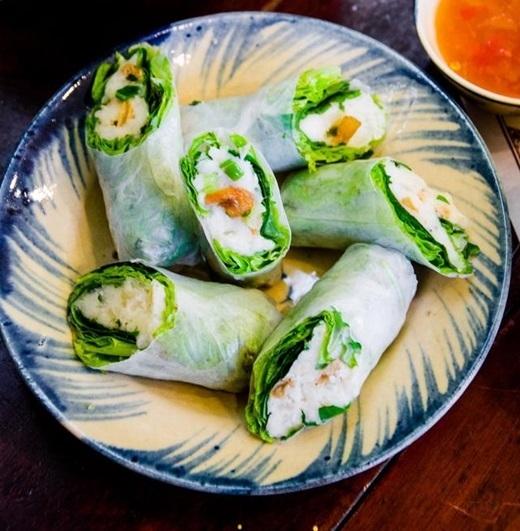 Xuất thân từ Củ Chi,khoai mì cuốn mang đến cho ẩm thực Sài Gòn hương vị mới lạ, chưa từng có trước đây. (Nguồn: Internet)