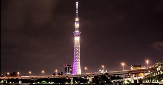 Skytree (Nhật Bản) là tháp cao nhất thế giới, hơn 634 m, nơi đây du khách có thể đi bộ qua sàn kính và nhìn xuống phía dưới.