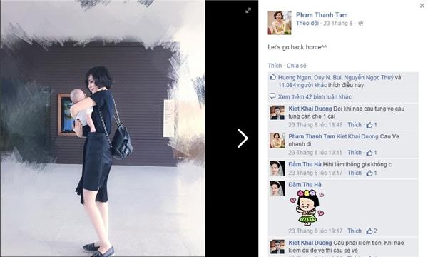 """Trước đó, Tâm Tít cũng từng """"khoe"""" con trên trang cá nhân nhưng với bức ảnh được chụp từ phía sau lưng. - Tin sao Viet - Tin tuc sao Viet - Scandal sao Viet - Tin tuc cua Sao - Tin cua Sao"""