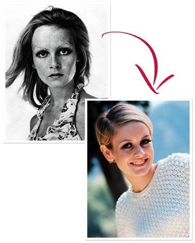 Lesley Hornby từng được mọi người biết đến với tên gọi Twiggy. Từ một người mẫu teen, cô đã lột xác ngọan mục và trở thành biểu tượng unisex quyến rũ trên khắp thế giới trong những năm 60. Chỉ với việc chấp nhận hi sinh mái tóc dài, thay bằng kiểu tóc ngắn lệch mái mà cô đã trở nên vô cùng cá tính và nổi bật.