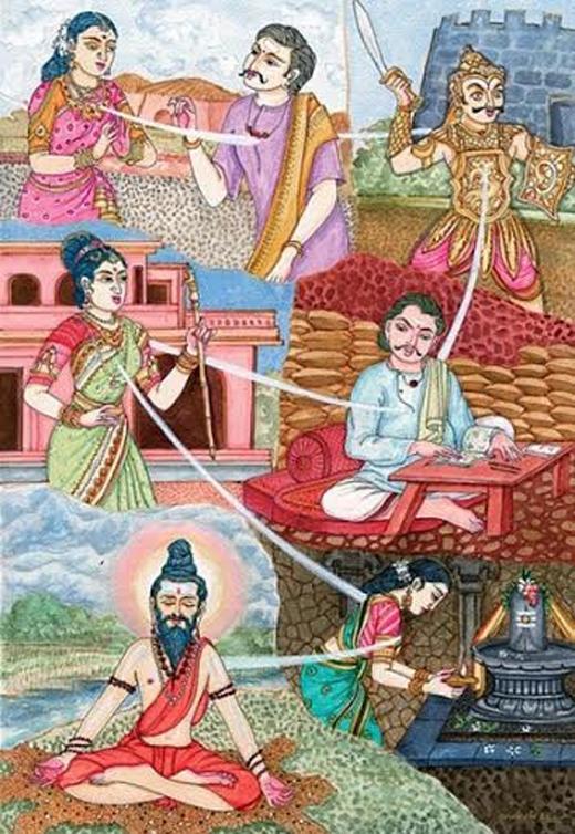 Minh họa về luân hồi chuyển kiếp, một ý niệm phức tạp hiện diện trong nhiều tôn giáo. Ảnh: Himalayan Academy