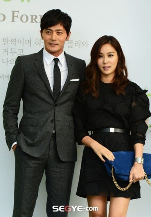 Jang Dong Gun rất hạnh phúc bên vợ Go So Young.