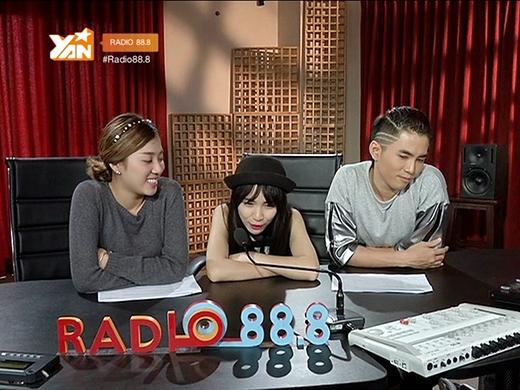 Chia sẻ chân thật nhưng cũng không kém rộn ràng của Hòa Minzytạo nên không khí vui nhộn choRadio 88.8.