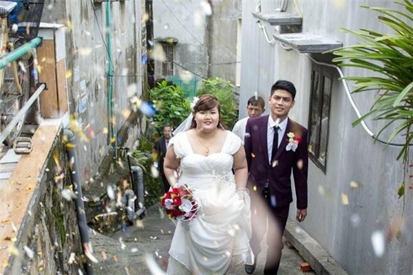 """Đám cưới của cặp đôi """"chồng gầy-vợ béo"""" đã được tổ chức vào tháng 8 âm lịch vừa qua. (Nguồn: Internet)"""