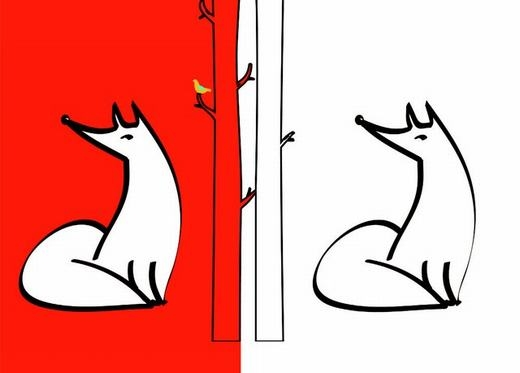 Thử nhìn chú cáo phía bên trái 30 giây, sau đó nhìn vào hình bên phải. Bạn thấy gì? Một chú cáo đỏ rực đúng không? Hiện tượng này vẫn đang là bí ẩn chưa có lời giải thích. (Ảnh: Internet)