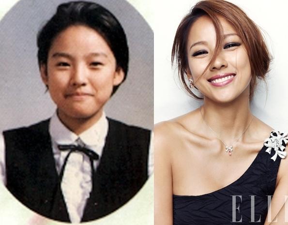 """Các fan không khó nhận ra nụ cười """"hở lợi"""" quen thuộc của Lee Hyori. Có lẽ ngày xưa, """"cô tiên quốc dân"""" cũng là một trong những học sinh nổi trội của lớp."""