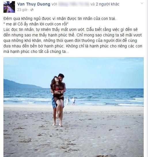 """Status cảm động của mẹ chồng """"ca nương"""". - Tin sao Viet - Tin tuc sao Viet - Scandal sao Viet - Tin tuc cua Sao - Tin cua Sao"""