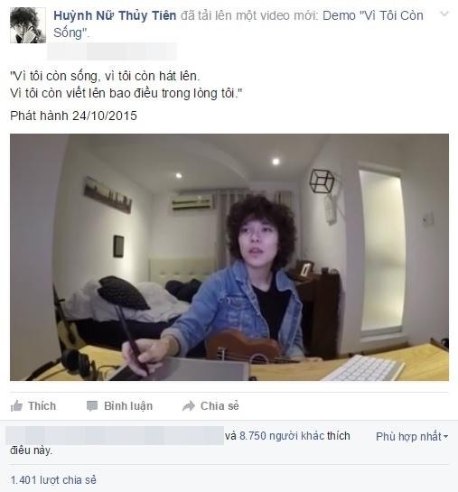 Đoạn video ngắn mà Tiên Tiên chia sẻ trên trang cá nhân cách đây vài giờ. - Tin sao Viet - Tin tuc sao Viet - Scandal sao Viet - Tin tuc cua Sao - Tin cua Sao