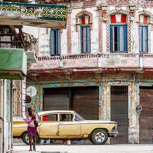 Đường phố ởHavana, Cuba một ngày đẹp trời.(Nguồn Internet)