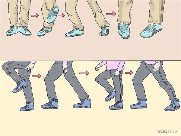 Một vài động tác Shuffle Dance đơn giản. (Nguồn: Internet)