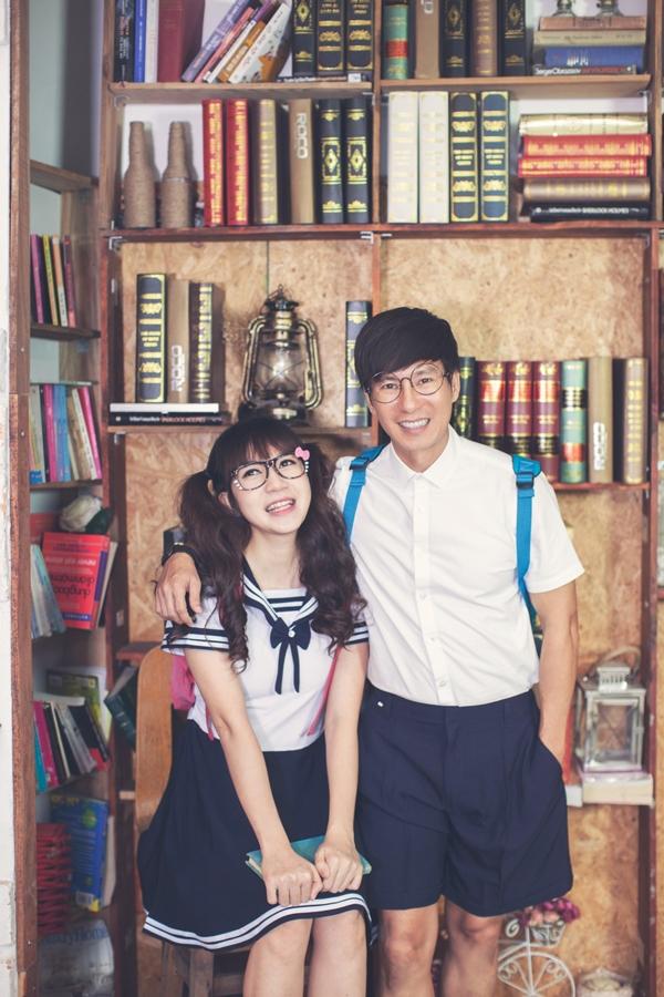 """Vợ chồng Lý Hải """"hồi teen"""" trong bộ ảnh đến trường cùng con - Tin sao Viet - Tin tuc sao Viet - Scandal sao Viet - Tin tuc cua Sao - Tin cua Sao"""