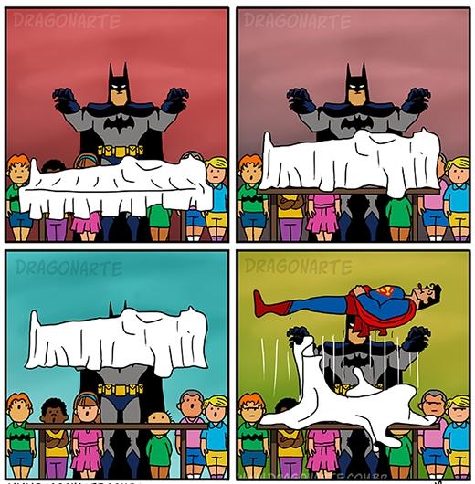 """""""Kính thưa bà con, sau đây tôi sẽ khiến bà con bất ngời với màn ảo thuật...Rồi xong!Thằng Superman lại 'chơi' mình!""""."""