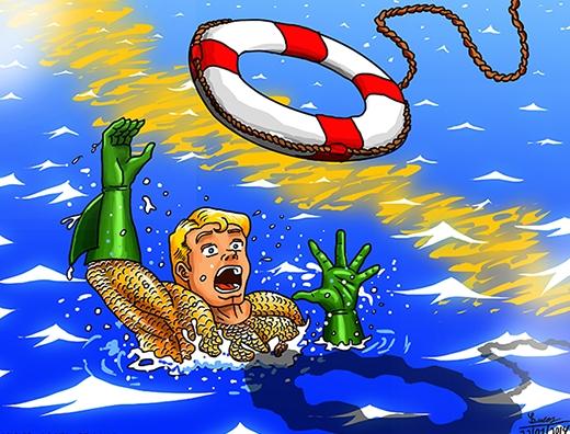 Sự thật là... anh ấy cũng không biết bơi.