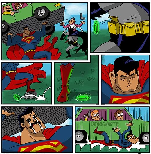 """Batman: """"Đi tắm không cởi áo choàng có gì sai mà nhìn?"""".  Viên đá Krypton vẫn là nỗi ám ảnh của Superman..."""
