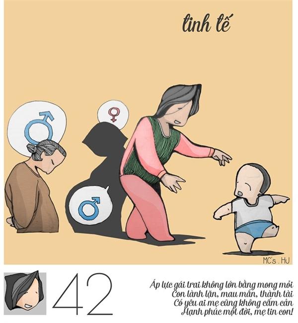 Rồi khi đã bắt đầu làm mẹ, tất cả những hạnh phúc, mong mỏi của người phụ nữ sẽ chỉ dành cho con cái, dành cho việc nuôi con khôn lớn thành người, và dành cho niềm vui, nụ cườicủa con.