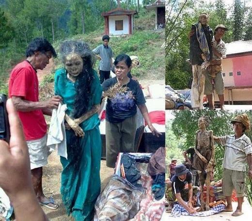Nếu bạn không tin có xác chết biết đi tồn tại trên đời thì hãy đến ngay làng Tana Toraja ở nam Sulawesi, Indonesia để chứng kiến người dân ở đây… gọi xác chết dậy và đi lại như người bình thường. (Ảnh: Internet)