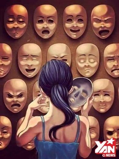 """Mỗi người sở hữu rất nhiều """"bộ mặt"""". Tùy hoàn cảnh mà họlựa chọn chiếc mặt nạ phù hợp."""