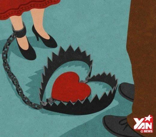 Nếu không tỉnh táo, đôi khi bạn sẽ bước vào một cái bẫyngọt ngào tên là:Tình yêu.